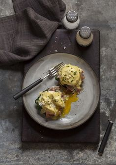 Eggs Benedict on roasted brown mushrooms ~ DrizzleandDip.com | Photography Samantha Linsell