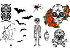Looking for a spooky effect for Halloween? How about some #tattoo bats!  Photo cred: @splachel