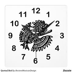 Quetzal Bird Square Wallclock