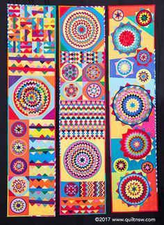 Zap Zing Zowie quilt by Rachael Daisy Lots of solids and prairie points Quilt Design, Quilting Designs, Prairie Points, Circle Quilts, Contemporary Quilts, Blue Mountain, Afghans, Quilt Patterns, Sydney