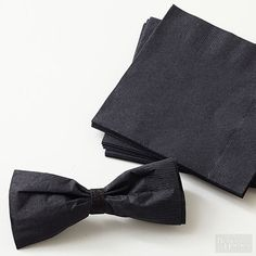 Make bow-tie napkins for a quick and easy decor idea for your Oscars party! http://www.bhg.com/party/host-an-oscar-night-party/?socsrc=bhgpin020615makebowtienapkins&page=6