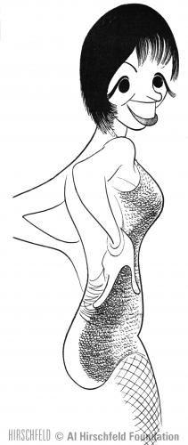 "Al Hirschfeld ~ Liza Minnelli in ""The Act"""