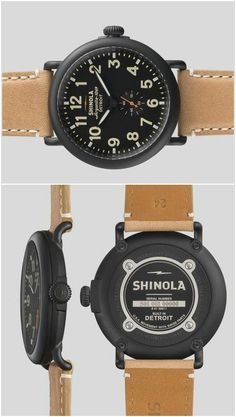 Runwell Leather Watch ♥ Made in USA