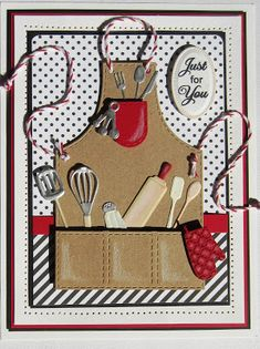 Hello crafters!  I have a fun apron card for you today!  I just love this die set as there are so many uses for it!  Not to mention, so...