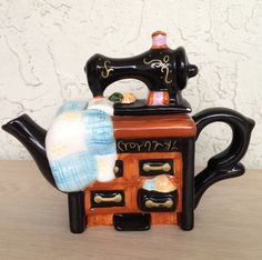 Mini sewing machine teapot. @Mercy Me this is so us!