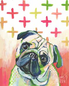 Mr. Mops Fine Art Print - Hund Portrait - Tag 142 Makewells365