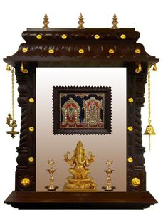 Get Beautiful Pooja Room Mandir Designs For Your Home. Create Gorgeous Pooja Room Interior Using Our Pooja Room Mandir Designs Made Of Wood, Marble Etc. Temple Design For Home, Home Temple, Altar Design, Mandir Design, Pooja Mandir, Pooja Room Door Design, Home Altar, Indian Interiors, Puja Room