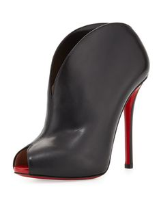 Christian Louboutin Chester Fille Peep-Toe Red Sole Bootie