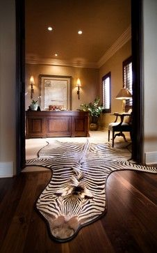 """Office - zebra rug :)"" ""Office, minus the zebra"" ""tom office...Gary's…"