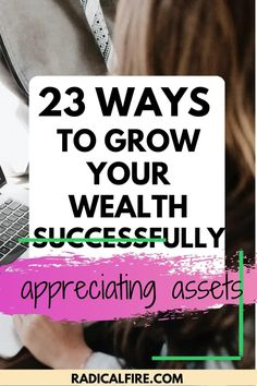 When talking about appreciating assets, what's the first thing that comes to mind? Building net worth. Appreciating assets are things that increase their value over time, to keep adding to your net worth. If you are looking for ways to grow your assets check out these 23 ways to grow your wealth successfully! Financial Peace, Financial Goals, Lending Company, Dividend Investing, Creating Wealth, Finance Organization, Managing Your Money, Investing Money, How To Get Rich