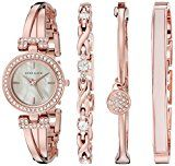 Anne Klein Women's AK/2238RGST Swarovski Crystal-Accented Rose Gold-Tone Bangle Watch and Bracelet SetAnne Klein164% Sales Rank in Watches: 197 (was 521 yesterday)(24)Buy new: $175.00 $98.44 (Visit the Movers & Shakers in Watches list for authoritative information on this product's current rank.)