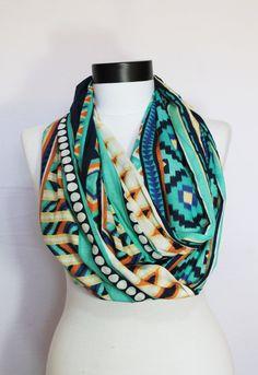 tribal infinity scarf long by salihadilber on Etsy
