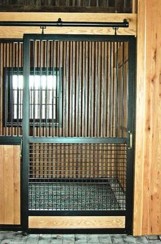maybe this will keep the goats in.... Lucas Equine Horse Stall Barn Stalls, Horse Stalls, Horse Barns, Horses, Dream Stables, Dream Barn, Barn Layout, Horse Barn Designs, Indoor Arena