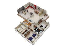 modelos de casas de una planta 3 dormitorios - Buscar con Google