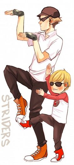 STRIDERS -- Homestuck why is this so cute!? Look at little Dave ! XD