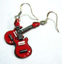 New earrings guitars by RustleZver.deviantart.com on @deviantART