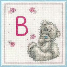 Ositos en gris Cross Stitch Boards, Cross Stitch Baby, Counted Cross Stitch Patterns, Blue Nose Friends, Bear Cartoon, Tatty Teddy, Cross Stitching, Sewing Crafts, Needlework