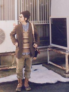 ことりの昭和ちゃんさんのBARACUTA / ツィードゲームジャケットBARACUTAバラクータを使ったコーディネート