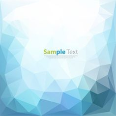 Blue Low Poly Abstract Background Vector Illustration