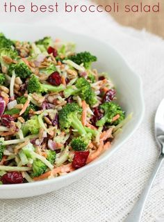 Broccoli Salad Recipe. Great salad for a potluck or BBQ. Easy and delicious!