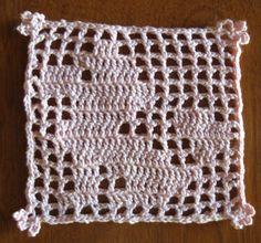Filet Crochet Poodle pattern