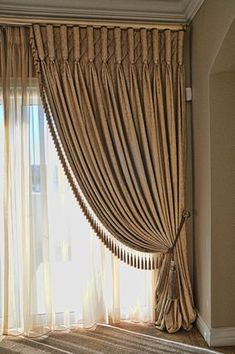 Curtains are dressy window coverings that can alter the appearance and do wonders for rooms in a home. It can make a room look more spacious or compac. Living Room Decor Curtains, Home Curtains, Curtains With Blinds, Window Curtains, Burlap Curtains, Mini Blinds, Drapery Panels, Classic Curtains, Elegant Curtains