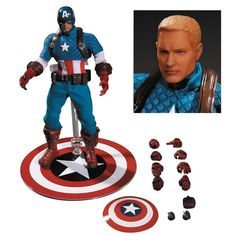 NEW One:12 Marvel Captain America Action Figure Collective Steve Rogers Statue