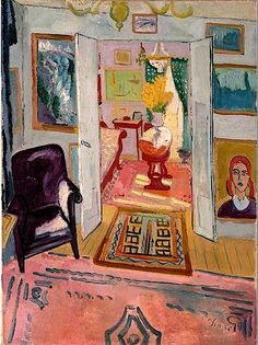 huariqueje: Interior - Grunewald, Isaac Swedish 1889-1946 oil on canvas , 33¾ x 25 1/8 in. (85.8 x 63.8 cm.)
