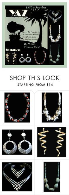 """""""1980's Jewelry"""" by heidi-calamia-galati ❤ liked on Polyvore featuring мода и vintage"""