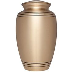 Funeral Urn by Liliane  Cremation Urn for Human Ashes  Hand Made in Brass and Hand Engraved  Display Burial Urn at Home or in Niche at Columbarium The Classic model Fits cremated remains of adults as well as the ashes of dogs cats or other pets -- Check out the image by visiting the link.
