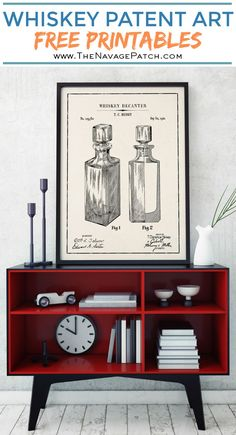 Whiskey Patent Art P