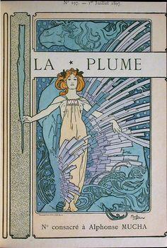 "Cover of ""La Plume"" Alphonse Mucha 1897"