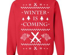 Winter Ugly Christmas Sweater Party funny stark king castle - Crew sweatshirt - apparel clothing - IIT360