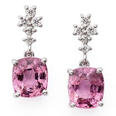 Yansa pink spinel and diamonds earrings