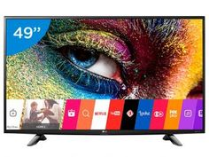 "Smart TV LED 49"" 4K LG 49UH6100 Ultra HD - Conversor Integrado 3 HDMI 1 USB Wi-Fi"