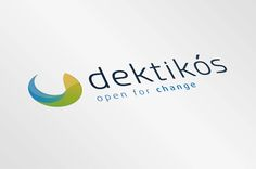 Logo Dektikós: Modern and colorful