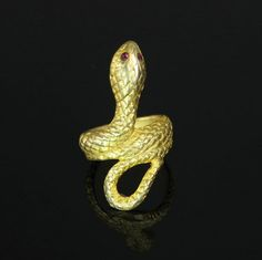 Serpent Snake Ring Signed DKNY Donna Karan by ClarasChicBoutique
