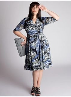 Although I am generally cautious with the animal prints, I LOVE this dress... The print is abstract and artistic and is on-trend, yet also timeless; and the teal color makes this dress feel fresh.