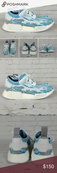 7fa9baccb Adidas NMD PrimeKnit SNS Datamosh You are buying Adidas NMD PrimeKnit SNS  Datamosh New without box Style  Color  Datamosh Teal Vapour Steel White  Rare ...