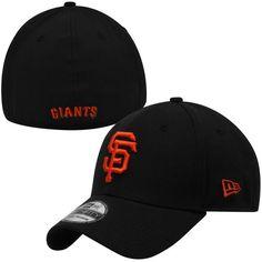 New Era San Francisco Giants Black MLB Team Classic 39THIRTY Flex Hat  Giants Team 8fd61c0683c