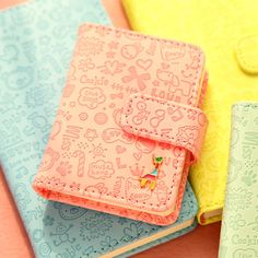 Lovely Cute PU Cover Diary Journal Notebook Pocket Planner Memo Stationery Gift