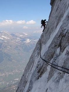 Hinterstoisser's traverse. Unbelievable climbs on the Eiger.
