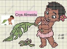 Moana, Disney Cross Stitch Patterns, Cross Stitch Designs, Perler Patterns, Loom Patterns, Knitted Jackets Women, Stitch Cartoon, Crotchet Patterns, Tapestry Crochet