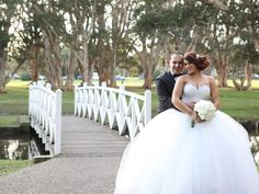 Weddings: Bride wears a French beaded, silk and tulle ball gown by personalisedweddings.com.au #weddingdress #bride #bridalgown #groom #weddings