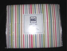 FULL-The-Big-One-Pima-Cotton-Blend-275-TC-Multi-Color-Stripe-SHEET-SET