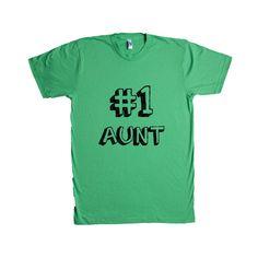 Number 1 Aunt Auntie Mom Moms Mother Mothers Grandparents Grandmother Children Kids Parent Parents Parenting Unisex Adult T Shirt SGAL3 Unisex T Shirt