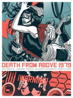 Death From Above, Ray LaMontagne & More Posters by Robert Wilson