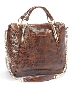 Take a look at the Ivanka Trump Crystal Croco Top Handle Satchel on #zulily today!