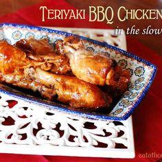 Teriyaki BBQ Chicken Legs in the Slow Cooker Recipe