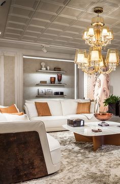 Bentley Home living room. Perfect combination of colors, materials and style in Luxury Living Group new showroom, Miami 2014